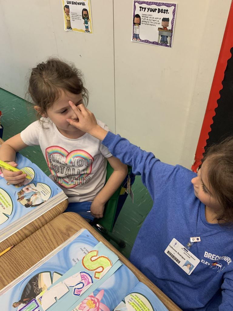 Friends blessing Friends in 1st Grade